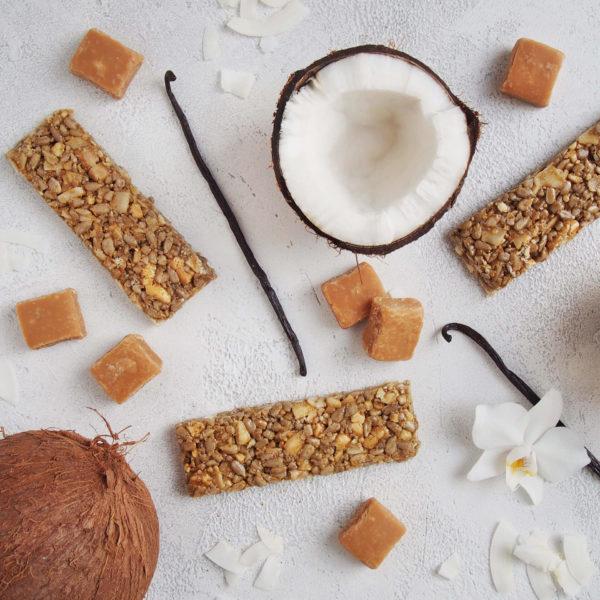 Coco-Caramella-Nussriegel-Zutaten